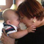 Sheryl Valentine holding baby