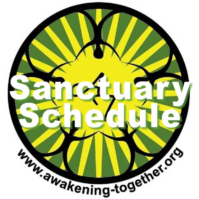 Awakening-Together.org: Sanctuary Schedule (A-T logo)